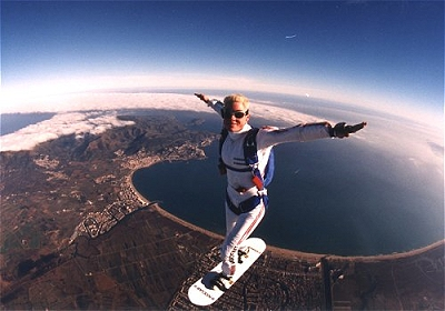 Skysurfing over Empuriabrava